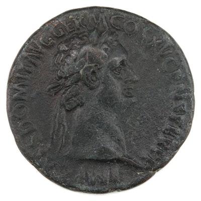 Ancient Roman Dupondius of Domitian, ca. 85 AD