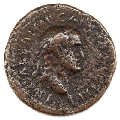 Ancient Roman Sestertius of Galba Libertas, 68–69 AD