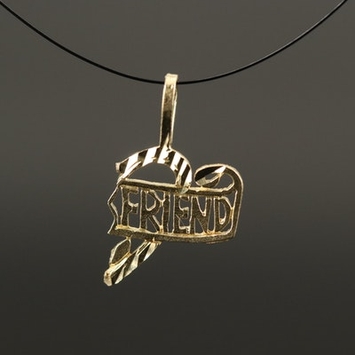 14K Friend Charm