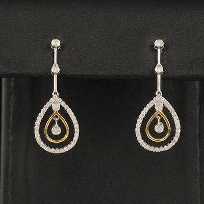 18K 0.51 CTW Diamond Teardrop Earrings