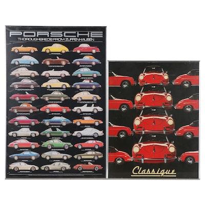 "Porsche-Themed Offset Lithographs Including ""Classique"""