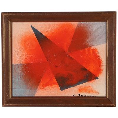 Olga Imayeva Gribanova Mixed Media Painting, Late 20th Century