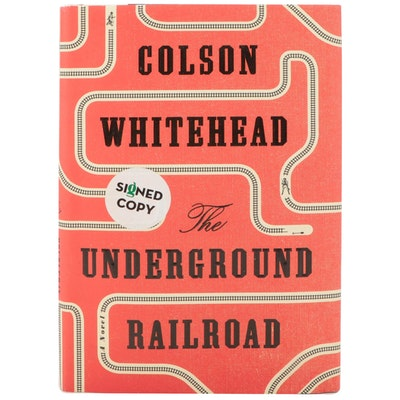 """Signed First Edition """"The Underground Railroad"""" by Colson Whitehead, 2016"""