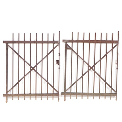 Pair of Cast Iron Gates, Early 20th Century