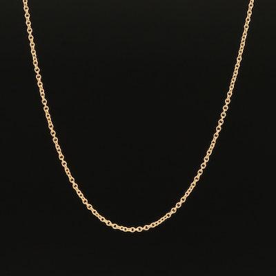 Tiffany & Co. 18K Rolo Chain Necklace