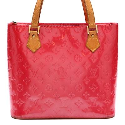 Louis Vuitton Houston Tote Bag in Framboise Monogram Vernis and Vachetta Leather