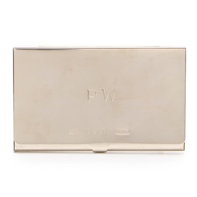 Tiffany & Co. 1837 Sterling Silver Business Card Holder, 1999