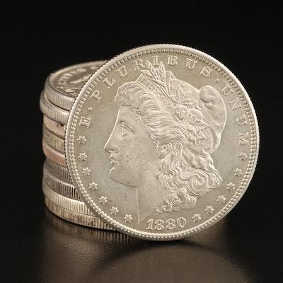 Ten Morgan Silver Dollars