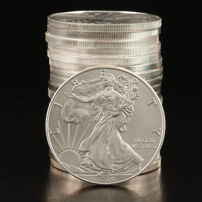 U.S. Mint Tube of Twenty 2014 $1 American Silver Eagle Bullion Coins
