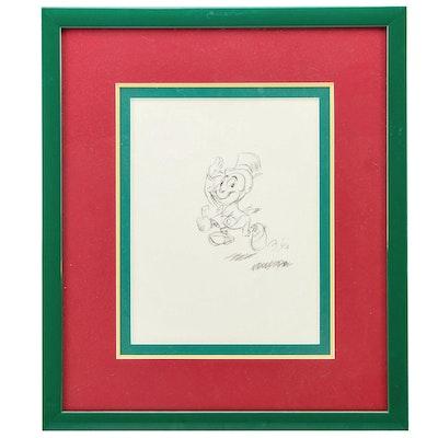 "Ward Kimball Drawing ""Jiminy Cricket"""