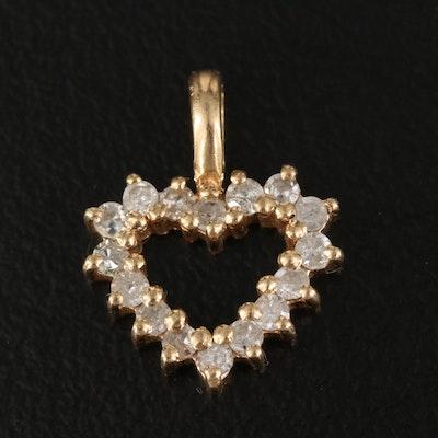14K 0.24 CTW Diamond Heart Pendant