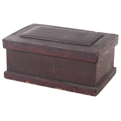 American Primitive Pine Tool Chest, Late 19th/Early 20th Century
