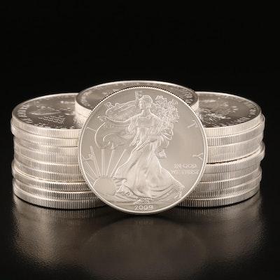 U.S. Mint Tube of 2009 $1 American Silver Eagle Bullion Coins