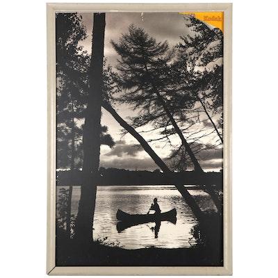 Kodak Large Black and White Photograph Poster Advertisement, Late 20th Century