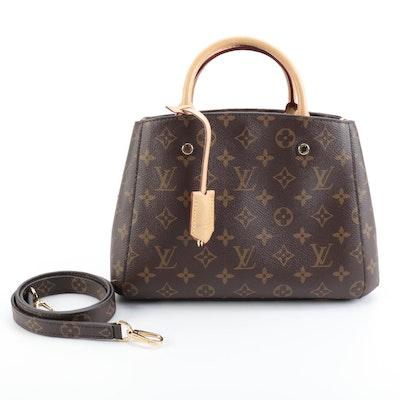 Louis Vuitton Montaigne BB Bag in Monogram Canvas and Vachetta Leather