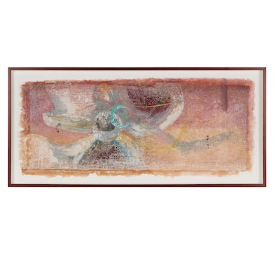 """Lu Guerzon Dickens Mixed Media Painting """"Gentle Ambiance"""""""