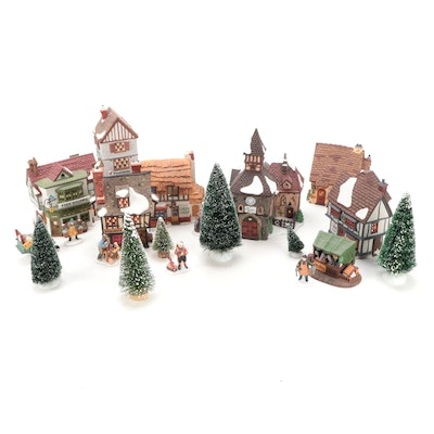 """Department 56 """"Dickens' Village"""" Porcelain Buildings and Other Accessories"""