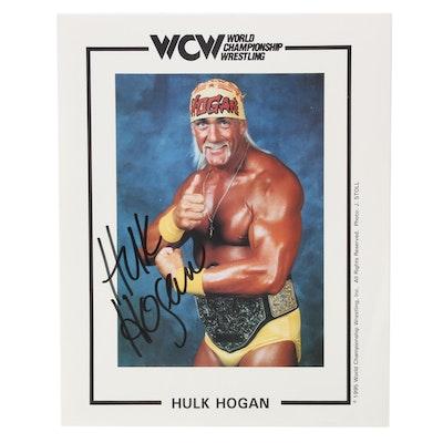 "1995 Hulk Hogan Signed ""World Championship Wrestling"" Photo Print, COA"