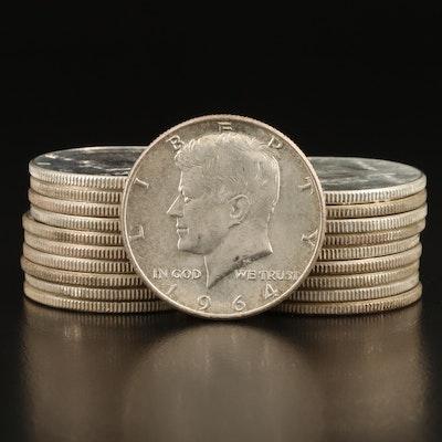 Twenty 1964 Kennedy Silver Half Dollars