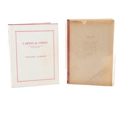 """Cartes de Visite"" and ""Ernst Leitz"" Photography Books"