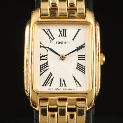 Seiko Guilloche Dial Quartz Wristwatch