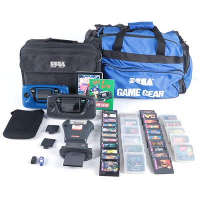 SEGA Game Gear Systems with Games, TV Tuner, Power Back and Game Genie