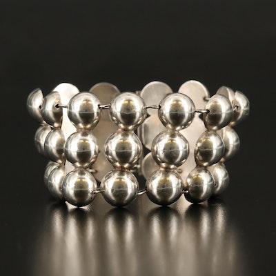 Sterling Silver Triple Row Bracelet