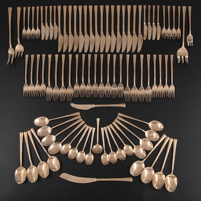 Thai Brass Flatware and Serving Utensils, Mid to Late 20th Century