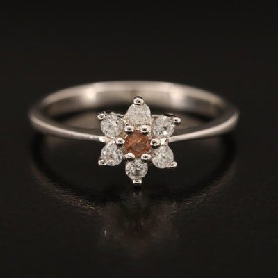Sterling Andalusite and Zircon Ring