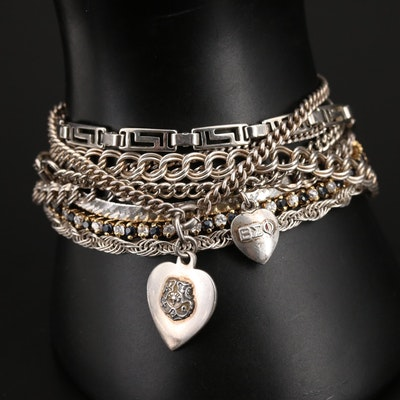 Bracelets Including Sterling and Corundum