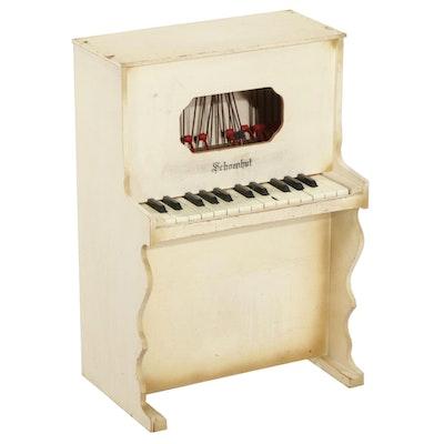Schoenhut Child's White Wooden Piano