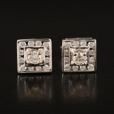 18K 0.50 CTW Diamond Stud Earrings