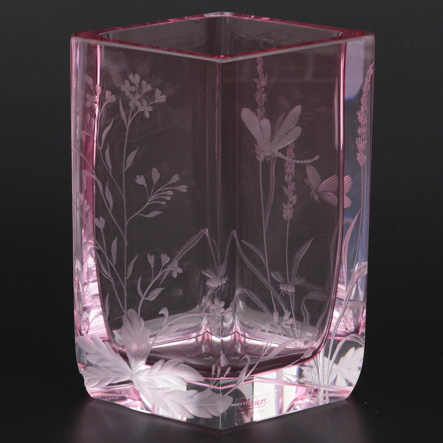 """Moser """"Chrysis"""" Mouth-Blown Crystal Vase with COA, 2008"""