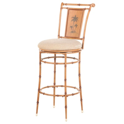 Hillsdale Faux Bamboo West Palm Barstool