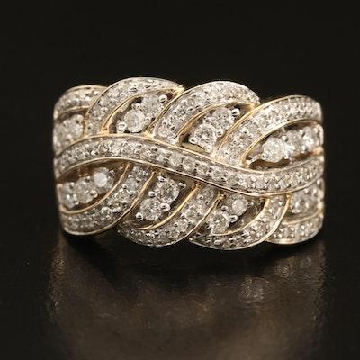 14K 0.87 CTW Diamond Braided Ring