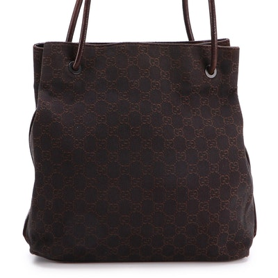 Gucci GG Canvas and Leather Shoulder Bag