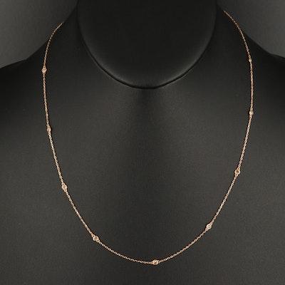 18K 0.32 CTW Diamond Station Necklace