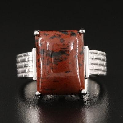 Sterling Silver Mahogany Obsidian Ring