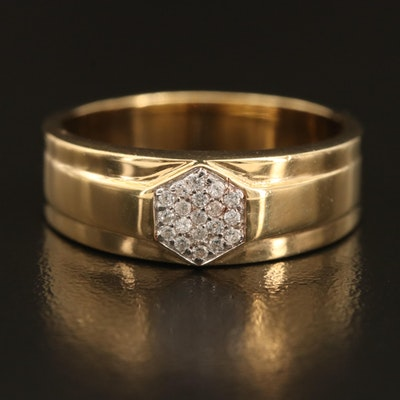 Sterling Zircon Hexagonal Ring
