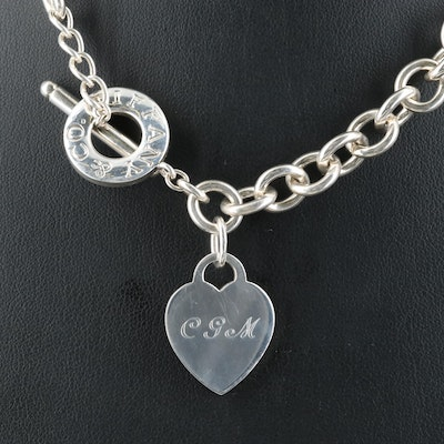 Tiffany & Co. Sterling Heart Tag Necklace