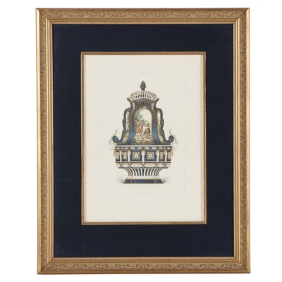 "Chromolithograph After Edouard Garnier ""Sèvres Copenhagen Vase"""