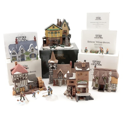 """Department 56 """"Dickens' Village"""" and More Porcelain Buildings and Figurines"""