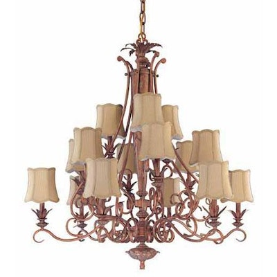 """Nuvo """"Island Cay Collection"""" Coral Reef Finish Chandelier"""