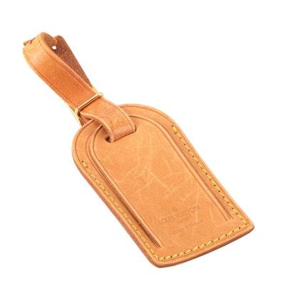 Louis Vuitton Vachetta Leather Luggage Tag