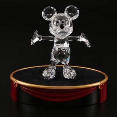 "Swarovski ""Mickey Mouse"" Crystal Figurine with Display Stand"