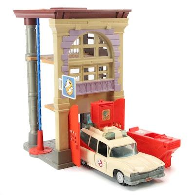 """Ghostbusters"" ECTO-1 Ambulance, Firehouse Play Set, 1984"