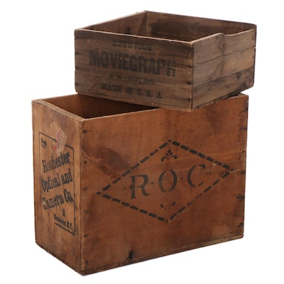 Rochester Optical and Camera Co. and Moviegraph Packing Crates
