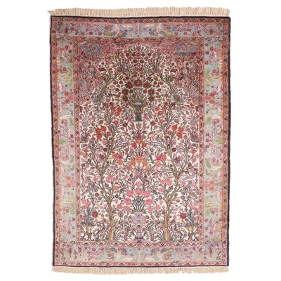 4'5 x 7'5 Hand-Knotted Persian Tabriz Prayer Arch Area Rug