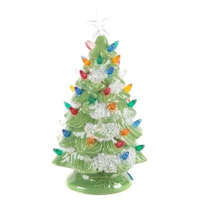 Illuminated Ceramic Christmas Tree Table Décor