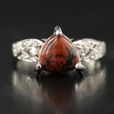 Sterling Mahogany Obsidian Ring